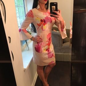 The Limited floral silky summer dress